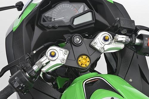 アグラス ハンドルセット イニシャルADJ/ブラック付 Ninja250 13- 《アグラス 321-491-000BK》