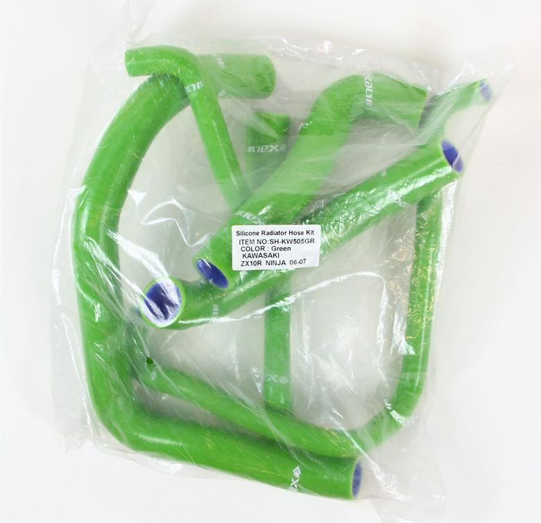 ネックス.P シリコンラジエターホースKIT グリーン ZX-10R 06-07 《ネックスパフォーマンス SH-KW505GR》