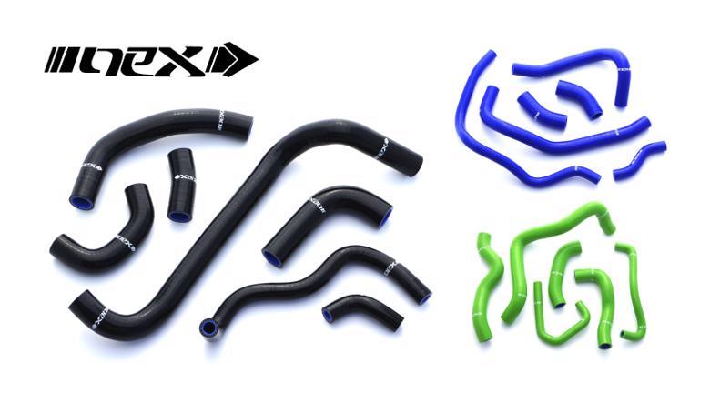 ネックス.P シリコンラジエターホースKIT ブラック ZRX1200 02-07 《ネックスパフォーマンス SH-KW507BK》