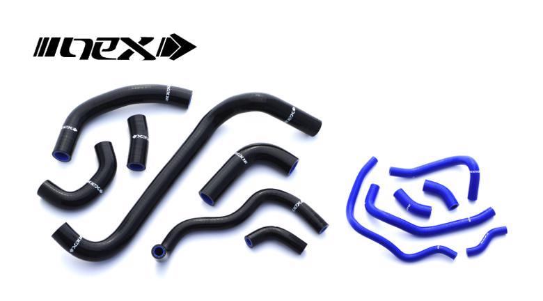ネックス.P シリコンラジエターホースKIT ブラック GSX-R1000 05-06 《ネックスパフォーマンス SH-SU511BK》