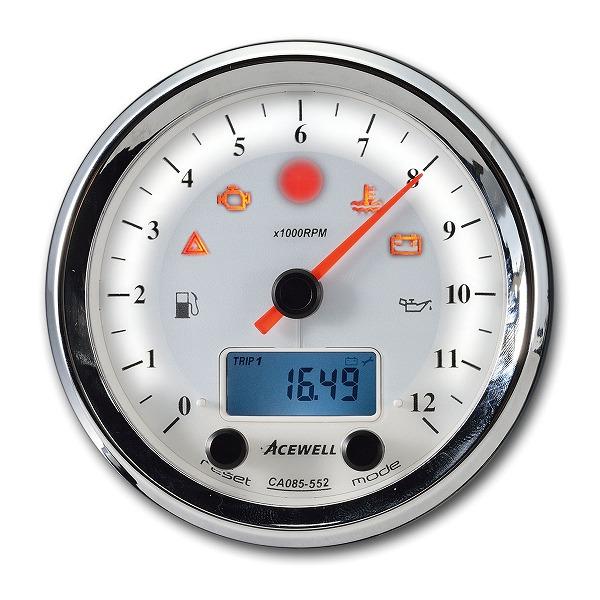エースウェル 多機能デジタルメーター WH CA085-352-W 《エースウェル CA085-352-W》