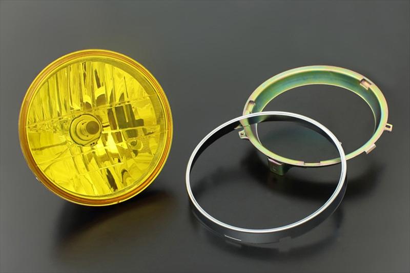 Brightec マルチリフレクターライト マウントリム付 丸型/イエロー 《ブライテック 71-0098》