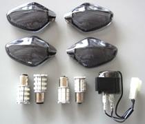 ODAX    2カラー LED&ウインカーレンズ スモーク NC700X/S CBR400R/CB400F/X 《オダックス OXS-WYB001H-S》