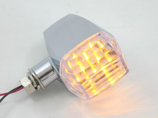 POSHフェイス  LED ZRウインカー BLK/クリアー Cカット ZRX400/1200R 04-08 《ポッシュフェイス 071666-06》