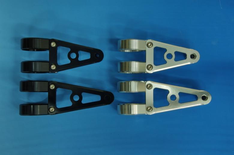 ウッドストック ヘッドライトステー Aタイプ ロング/SLV フォーク径φ36用 《ウッドストック WLS-A36L-SL》