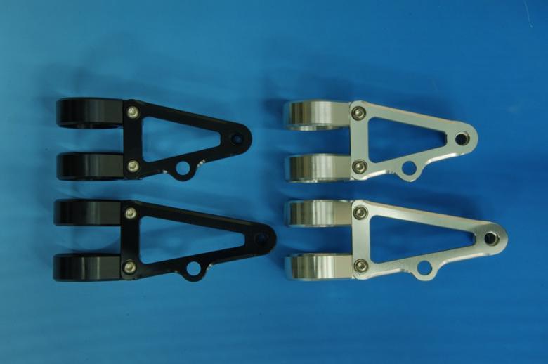 ウッドストック ヘッドライトステー Bタイプ ショート/BLK フォーク径φ43用 《ウッドストック WLS-B43S-BK》