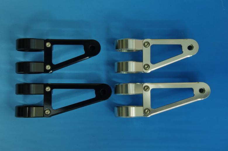 ウッドストック ヘッドライトステー Fタイプ ショート/SLV フォーク径φ43用 《ウッドストック WLS-F43S-SL》