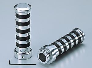 ハリケーン アルミグリップ タイプ2 メッキ 22.2mm 《ハリケーン HA7426C》