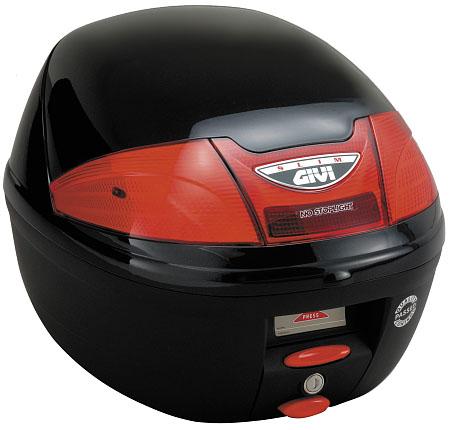 【GIVI】【ジビ】【バイク用】【ボックス】モノロックケース 汎用モノロックベース付き E230EN901 ストップランプなし パールブラック塗装【68027】