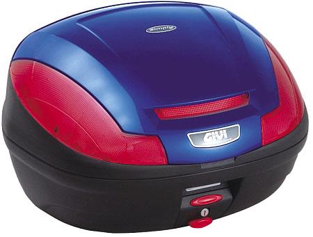 【GIVI】【ジビ】【バイク用】【ボックス】モノロックケース 汎用モノロックベース付き E470B529D ストップランプなし ブルー塗装【68055】