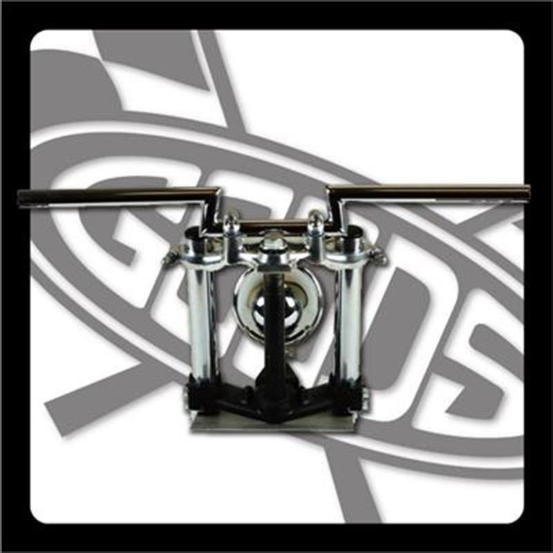 バイク用品 ハンドルグッズ GOODS ローハイトバー クローム SR400 500(88-00) AMAL364ホルダーBK ワイヤー・セットG9-00311 4548664965212取寄品 セール