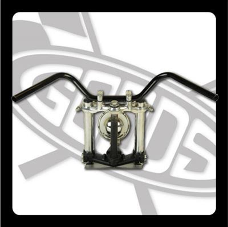 GOODS オールドバーハイ ブラック ハンドルグッズ バイク用品 ワイヤー・セットG9-00459 スーパーセール SR400 500(85-87) 4548664966394取寄品 AMAL364ホルダー