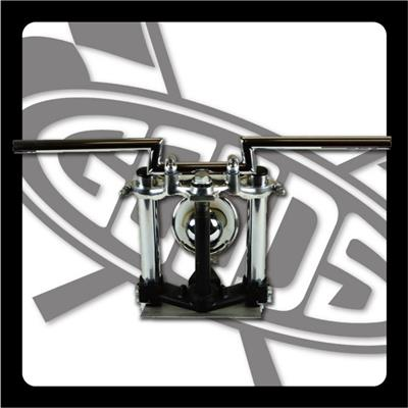 バイク用品 ハンドルグッズ GOODS ローハイトバー クローム 250TR(-06) AMAL364ホルダーBK ワイヤー・セットG9-00853 4548664968985取寄品 セール