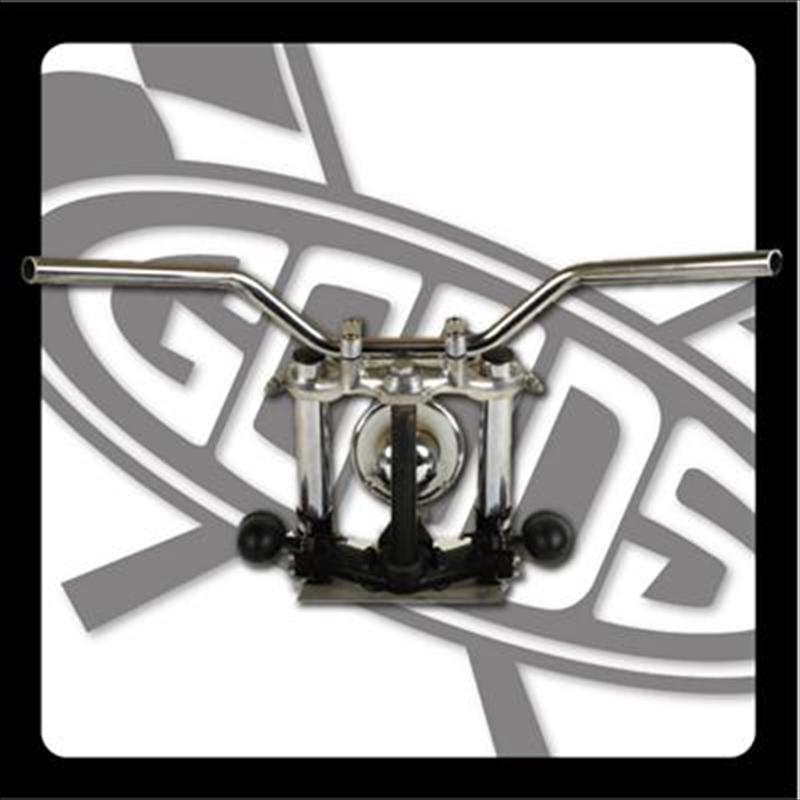 バイク用品 ハンドルグッズ GOODS ナロートラッカーバー クローム SR400 500(85-87) AMAL364ホルダー ワイヤー・セットG9-01474 4548664971633取寄品 スーパーセール