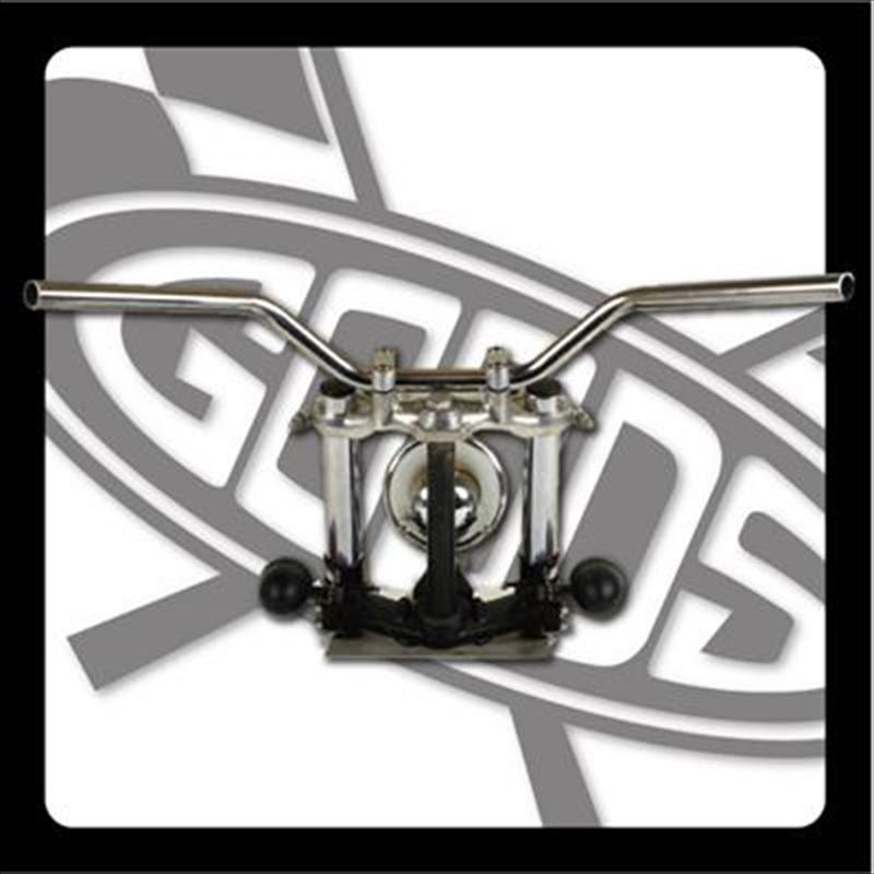 バイク用品 ハンドルグッズ GOODS ナロートラッカーバー クローム SR400 500(85-87) AMAL364ホルダーBK ワイヤー・セットG9-01475 4548664971640取寄品 セール