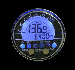 オンライン限定商品 デジタルメーター カスタム ACEWELL エースウェル 多機能デジタルメーター バイク用》 ACE-2802 汎用 《スピードメーター 売り出し