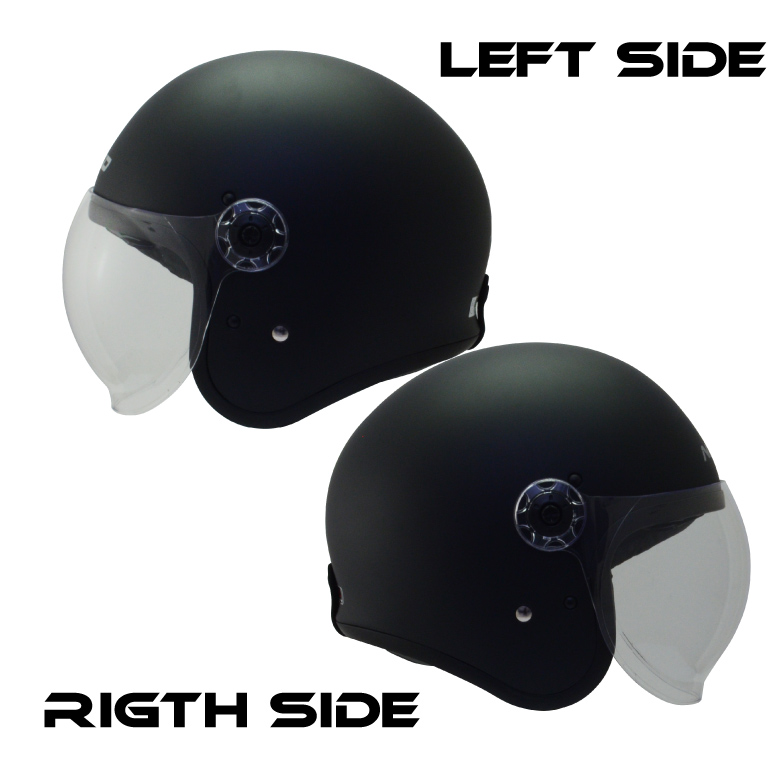 【送料無料】バイクヘルメットジェット【新品】インナーバイザークリアシールド【安全規格品】PSCSG全排気量対応【プレゼント付】クイッククロスNIKKON-502マットブラック
