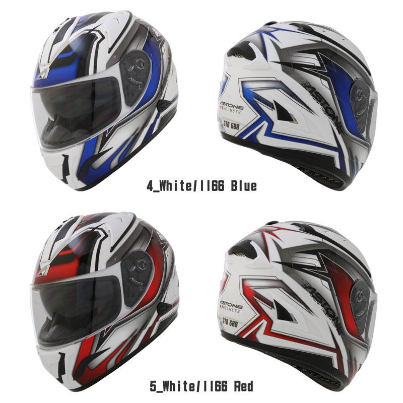 バイクフルフェイスヘルメットはとや新商品ASTONEHELMETGTB600アストンフルフェイスインナーバイザー付カッコイイソリッドグラフィック初心者