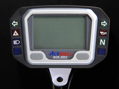 スーパーセールACEWELL エースウェル 多機能デジタルメーター ACE-3803 《スピードメーター バイク用》