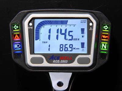 ACEWELL エースウェル 多機能デジタルメーター ACE-3963 《スピードメーター バイク用》