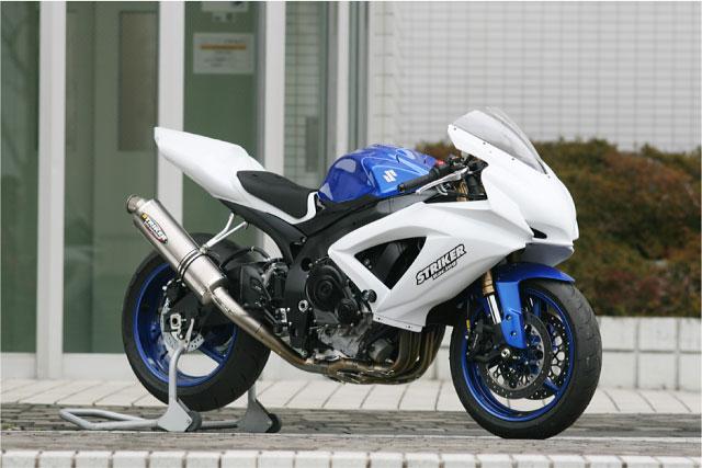【COLORS】【STRIKER】【マフラー】【バイク用】【レース専用】RACING CONCEPT チタンフルエキゾースト GSX-R600/750 08-【6934OT60】