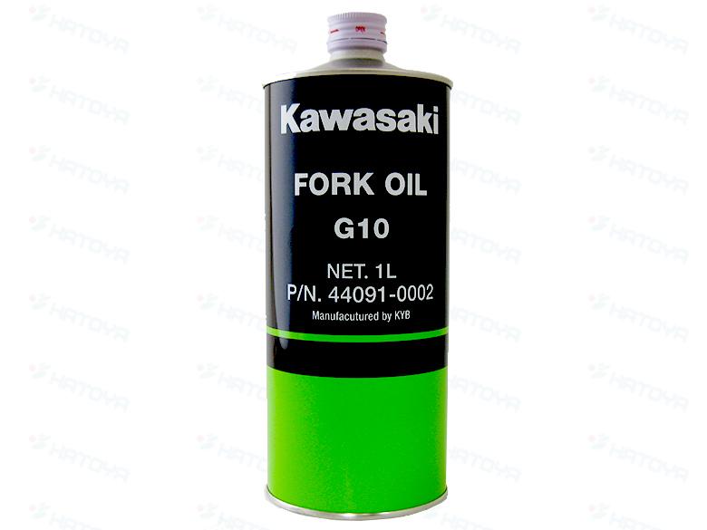 取寄品 カワサキ オイル KAWASAKI 毎週更新 バイク用 旧J5002-0003→新J44091-0002 フォークオイル 定番スタイル 正立フォーク用 1L G10