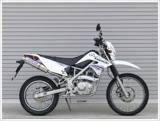 【OVER Racing】【オーヴァー】【バイク用】ステンチタン マフラー KLX125, D-TRACKER125【13-701-05】【送料無料】