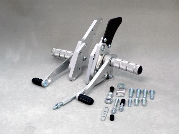 【WRS】【バイク用】BATTLE STEP アルミ シルバーアルマイト ZRX1200R/S、1100/-2004【0-45-WS4101】【送料無料】