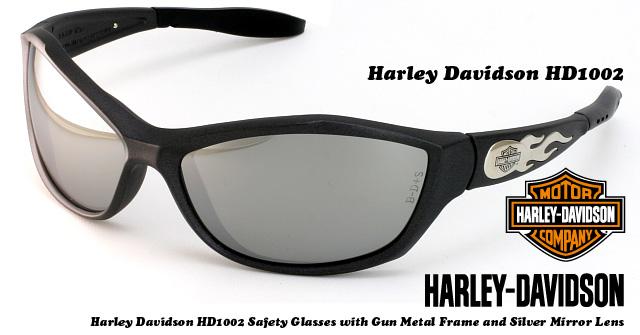 Harley Davidson sunglasses HD1002 gunmetal frame silver mirror lens