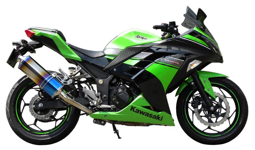 【東単オリジナル】ninja250/Z250 Titanium Slip ON muffer チタニウム スリップオン マフラーJBK-EX250L/ER250C対応【80003-KN2-43】【送料無料】