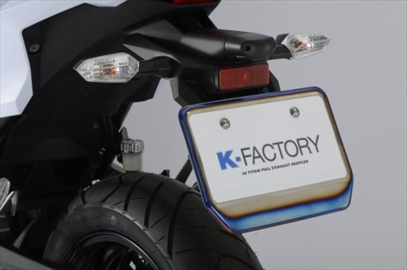 バイク用品 電装系ケイファクトリー K-FACTORY チタニウムホルダープレート チタンヤケイロ X-4002WZAE002P 4582215492208取寄品 セール