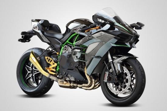 バイク用品 マフラーケイファクトリー K-FACTORY チタン製メガホンマフラー スリップオン Ninja H2 1本出し172KZPAEFM0000 4582215606629取寄品 セール