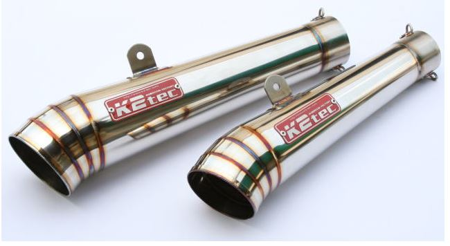 バイク用品 マフラーケイツーテック K2TEC GPスタイル メガホンサイレンサー 300・80 60.5 バンド止めタイプgpm30-86b 4548916079964取寄品 セール