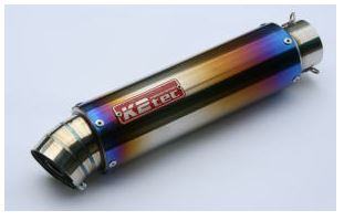 バイク用品 マフラーケイツーテック K2TEC GPスタイル STDチタンサイレンサー 3ピース 480mm φ86 50.8 バンド止めタイプgps3p-48t5b5 4548916080731取寄品 セール