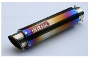 バイク用品 マフラーケイツーテック K2TEC GPスタイル STDチタンサイレンサー M1 380mm φ86 60.5 バンド止めタイプgpsm1-38t6b5 4548916081387取寄品 セール