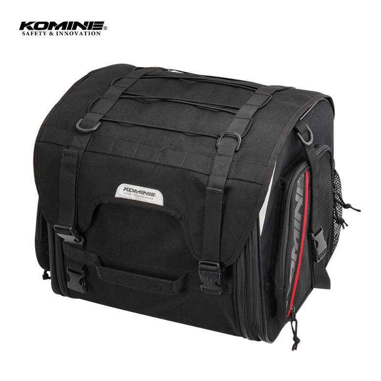バイク用品バッグ おすすめツーリング 旅行 容量可変 大容量 黒 KOMINE(コミネ)ジャーニーシートバッグ 【09-241】 SA-241 取寄品 セール