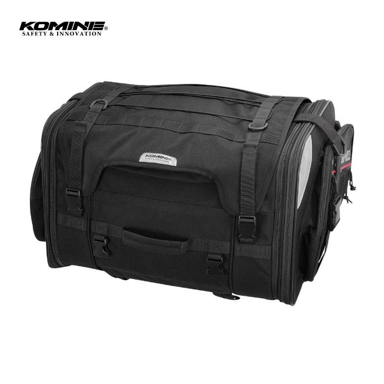 バイク用品バッグ おすすめツーリング 旅行 容量可変 大容量 黒 KOMINE(コミネ)ロングジャーニーシートバッグ 【09-242】 SA-242 取寄品 セール