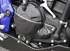 バイク用品 吸気系 エンジンMAGICAL RACING マジカルレーシング クラッチカバー 平織カーボン MT-25 YZF-R25001-MT2515-680C 4548916798629取寄品 セール