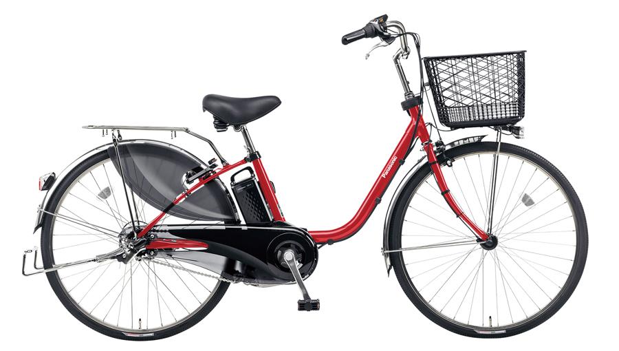 パナソニック/ビビDX/26インチ/パールクリアレッド/BE-ELD633R/電動自転車