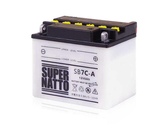 メーカー直送※欠品の際はご容赦ください バイク用バッテリー 開放型 SB7C-A すぐに使える 永遠の定番 YB7C-A GM7CZ-3D 銀振不可 互換 代引 メーカー直送のため同梱不可 スーパーナット 送料無料お手入れ要らず カード決済限定 12N7C-3D