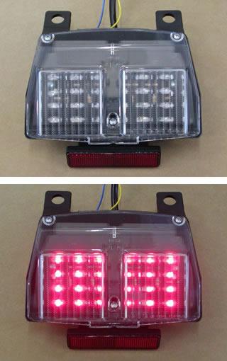 バイク用品 電装系オダックス ODAX LEDクリアテールライト Ducati 996 916 748 998JST-351002-L 4548664191741取寄品