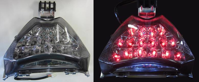 バイク用品 電装系オダックス ODAX LEDクリアテールライト ライトスモーク Bandit 1250 S F 07-13JST-353013C-L-S 4548916206742取寄品