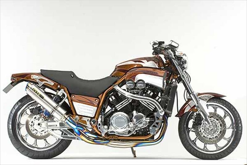 バイク用品 マフラーオーヴァーレーシング OVERRACING GPパフォーマンス フルチタン 4-2-1 V-MAX120020-34-TT 4539770087271取寄品 スーパーセール