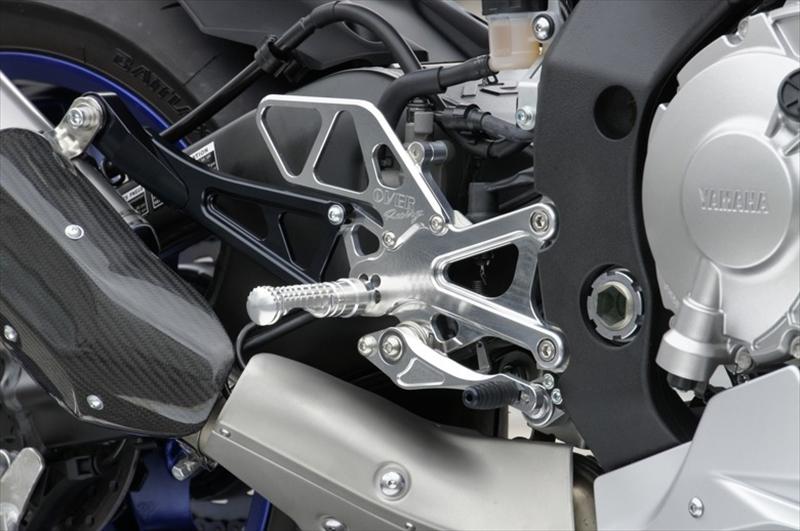 バイク用品 ステップオーヴァーレーシング OVERRACING バックステップ 4POS SLV YZF-R1 1551-424-01 4539770113437取寄品 スーパーセール