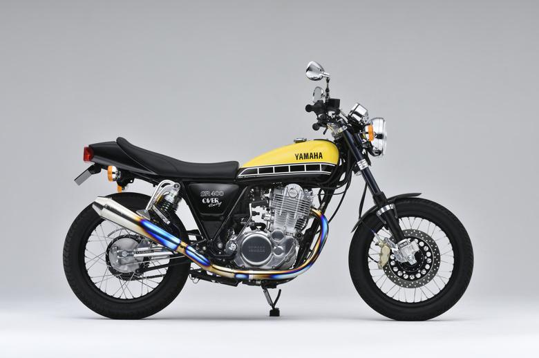 バイク用品 マフラーオーヴァーレーシング OVERRACING チタンメガホンスポーツアップタイプ手曲 SR400(FI)16-401-10 4539770115172取寄品 セール