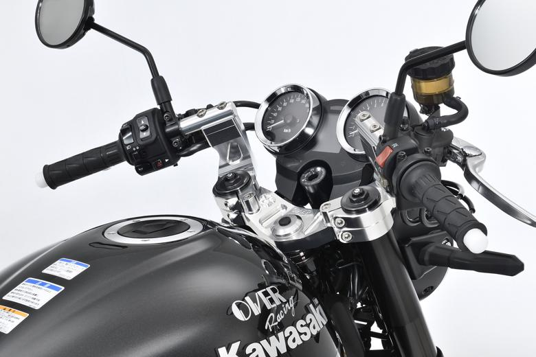 バイク用品 ハンドルオーヴァーレーシング OVERRACING スポーツライディングハンドルキット BLK Z900RS 1855-71-11B 4539770117138取寄品
