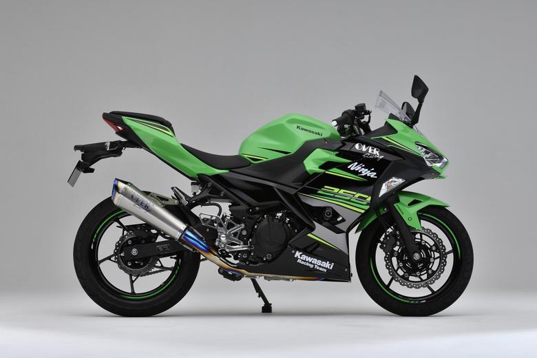 バイク用品 マフラーオーヴァーレーシング OVERRACING TT-Formula RS+PRO チタン 2-1 Ninja250 1825-693-12 4539770117565取寄品 スーパーセール