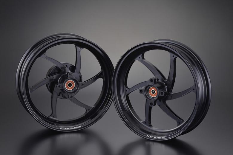 バイク用品 タイヤ&ホイールオーヴァーレーシング OVERRACING GP-SIXホイール F2.70 R3.50-12 MONKEY125 ブラック82-012-20B 4539770118005取寄品 スーパーセール