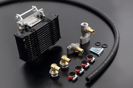 バイク用品 冷却系PMC ピーエムシー オールドスタイルオイルクーラーキット横出し 13段 銀コア STDFit88-543 4548664016150取寄品 セール