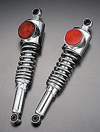 バイク用品 サスペンション ローダウンPMC ピーエムシー OEMリアショック 強化 メッキ 赤 Z1109-112 4548916231461取寄品 セール